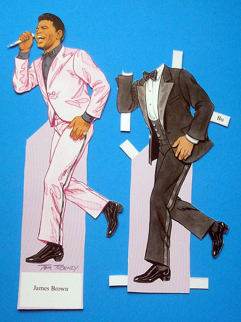 2a7f981aec93b James Brown paper doll by Tom Tierney