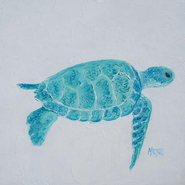 Turquoise Marine Turtle By Jan Matson Turtle Painting Sea Turtle Painting Coastal Wall Art