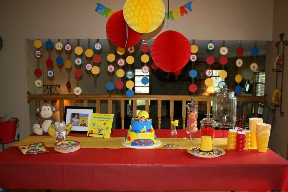 Curious George Birthday Party Kids Party Ideas Boy