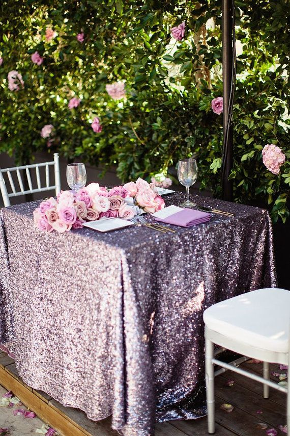 Lavender Sequin Tablecloth Different Sizes By Candycrushevents