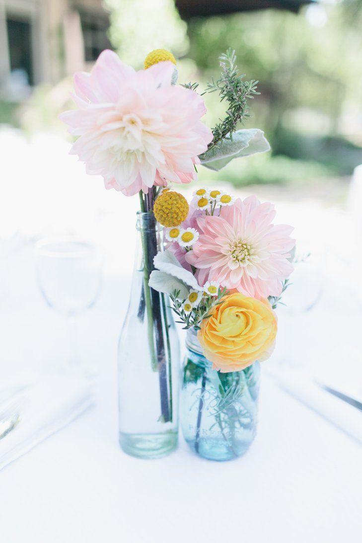 Pastel blue wedding decor  Pastel Dahlia Decor  Portola Inn eknot