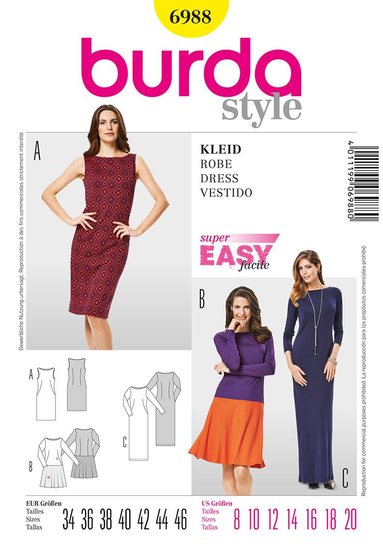 Simplicity Creative Group - Burda Style Dress | Moldes ropa ...