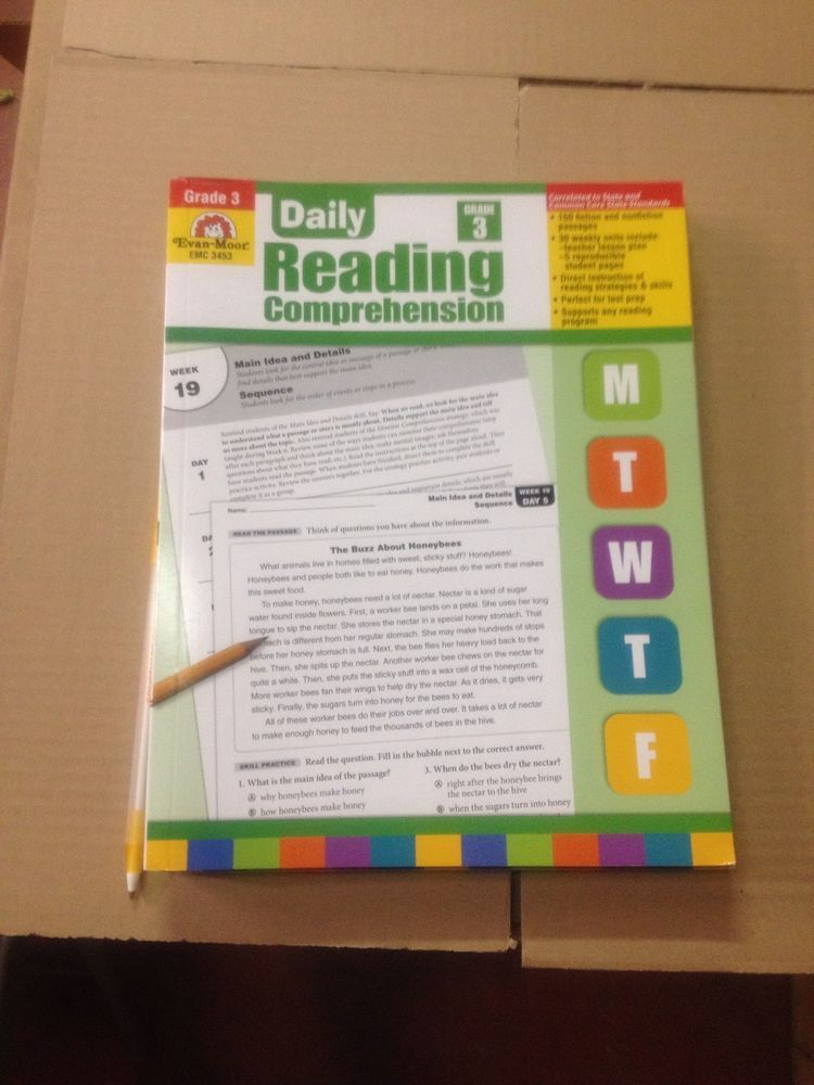 Evan Moor Daily Reading Comprehension Grade 3 EMC 3453