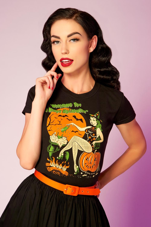 pinup girl exclusive halloween t-shirtatomic swag | pinup girl