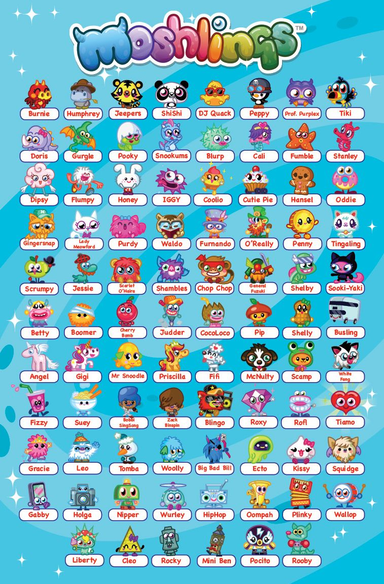 Moshling names this a very cool poster of the moshimonsters very cool julia loves it