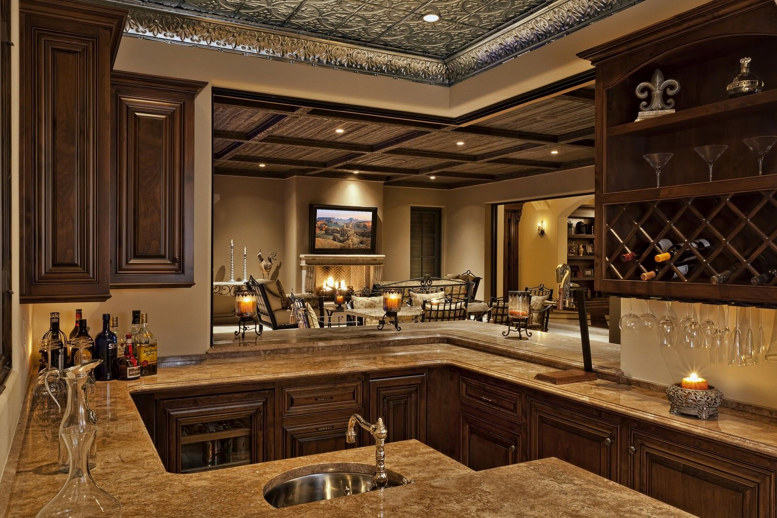Home Bars Home Bar Wet Bar Cabinets Copper Canyon