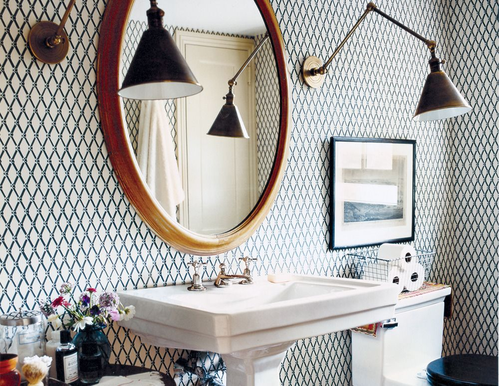 Small Bathroom Decorating Ideas  Small Bathroom Wallpaper And Bath Unique Decorating Small Bathrooms Inspiration Design