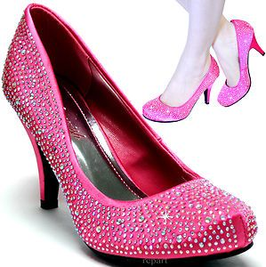 Details about New women&39s shoes rhinestone satin pumps stilettos