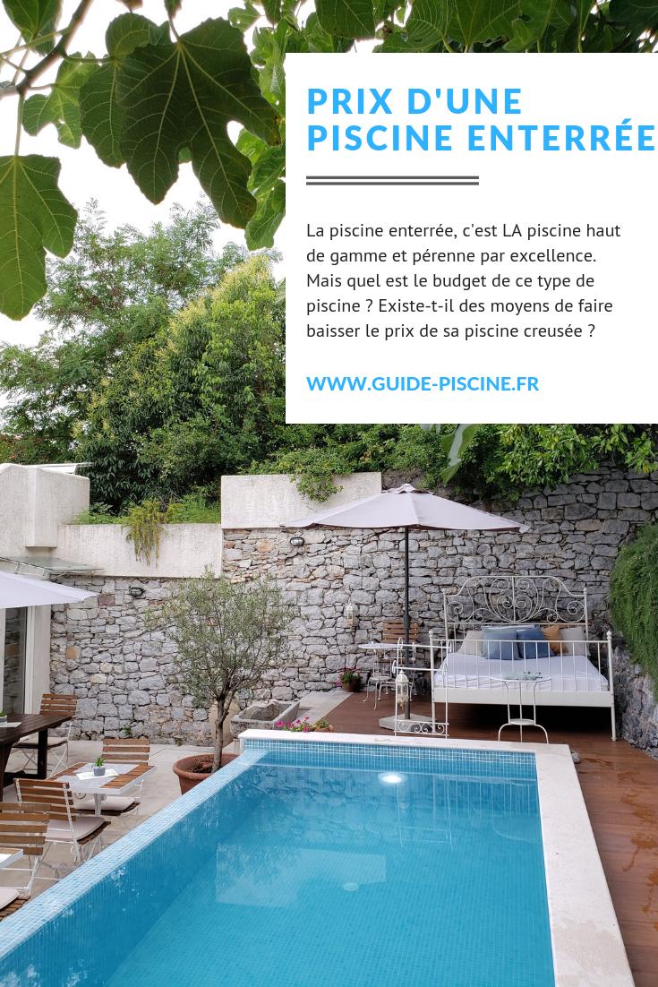 Construire Sa Piscine Soi Meme Prix prix d'une piscine enterrée   piscine enterrée, piscine et