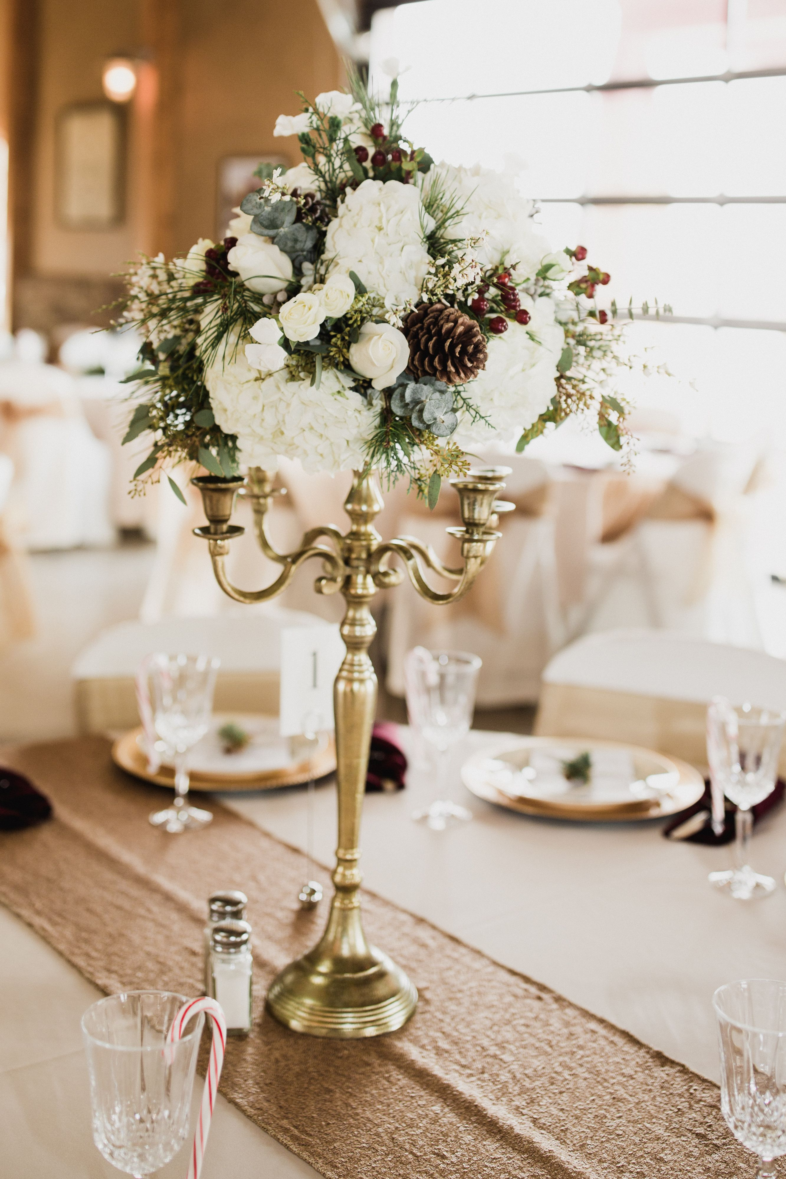 December Wedding Centerpiece Wedding 121617 Pinterest