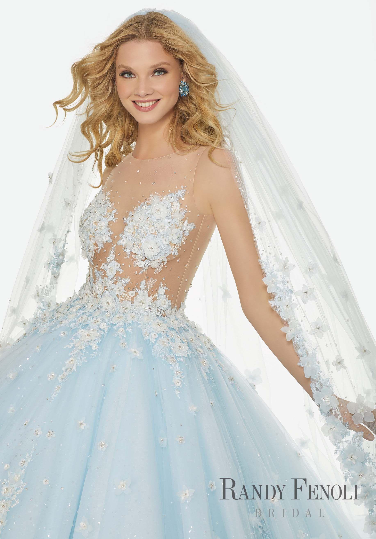 Randy Fenoli Bridal, Brandi Wedding Dress | Style 3424. Diamante and ...