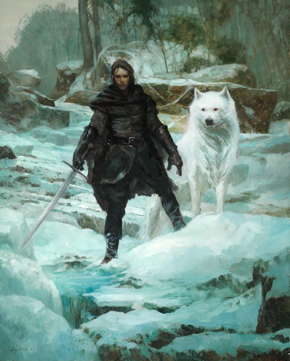 Jon Snow by Justin Sweet A Song of Ice and Fire