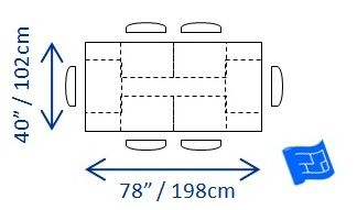 Ideal Or Minimum Dining Table Dimensions For 6 People X 60 40 200 Cm Long 8 10 Add Per 2 Persons Note 90 Width