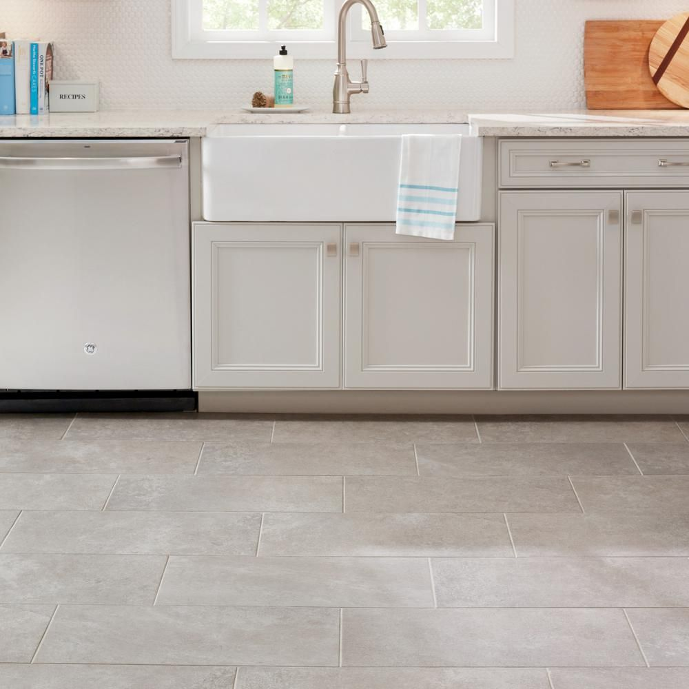 Lifeproof Quartzite 12 In X 24 In Glazed Porcelain Floor And Wall Tile 15 6 Sq Ft Case Lp511224hd1p6 The Home Depot Grey Kitchen Floor Grey Kitchen Tiles Porcelain Flooring