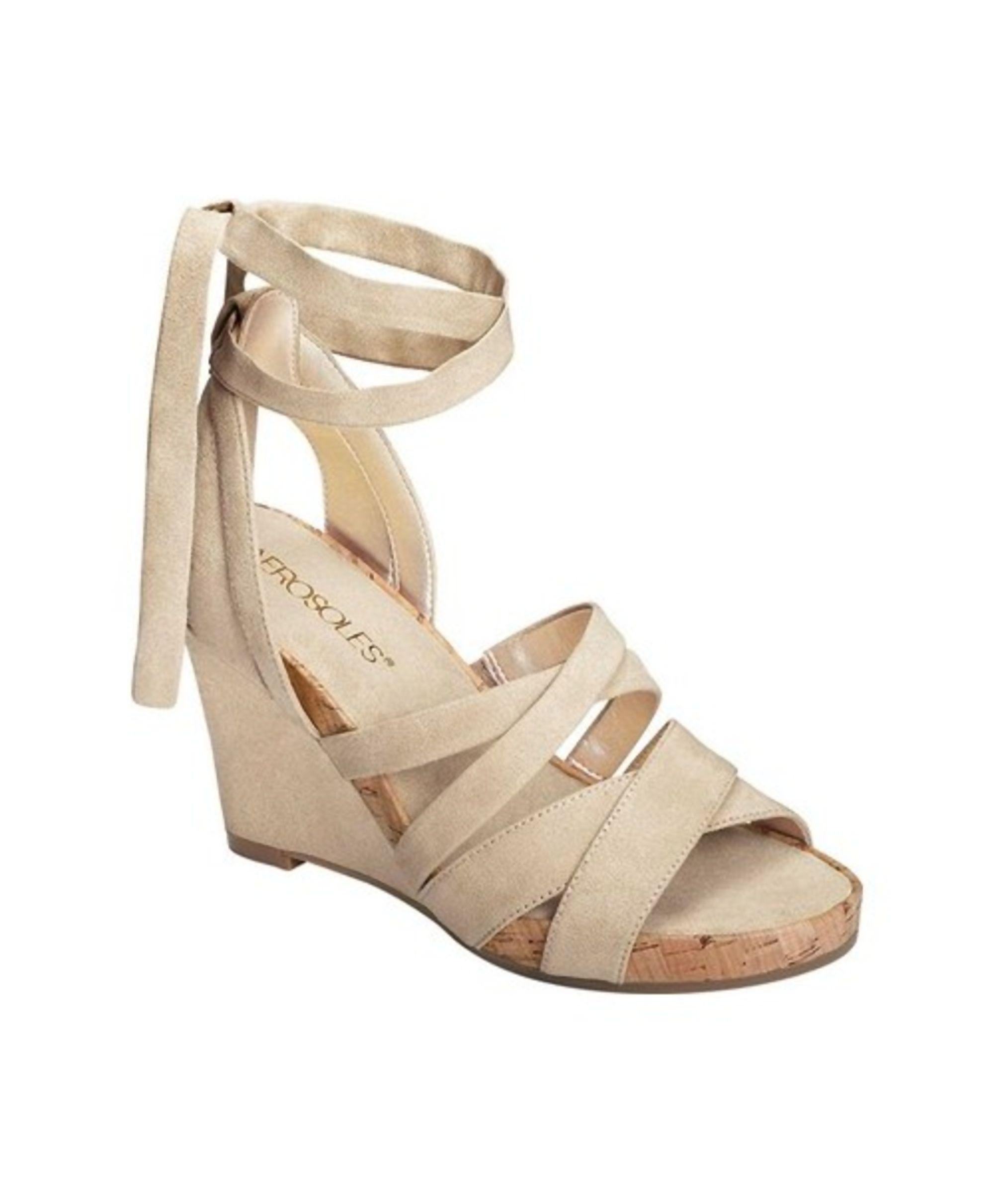bb41af11ec AEROSOLES | Aerosoles Women's Lilac Plush Ankle Tie Sandal #Shoes #Sandals # AEROSOLES
