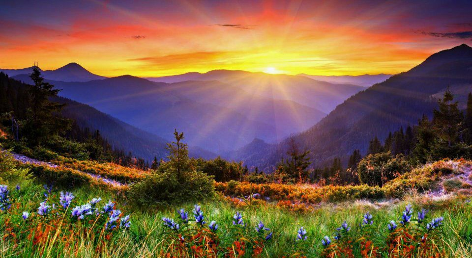 Pin By Cheryl Deitrich On Places I D Like To Go Mountain Landscape Sunrise Wallpaper Scenery