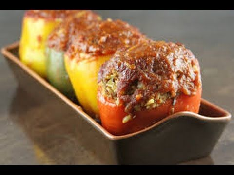 Meatloaf stuffed peppers meatloaf stuffed peppers food network food forumfinder