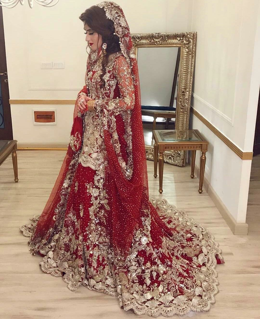 Bridal lahanga 😊😊😊😊😍😍😍😍  Indian bridal dress, Red bridal