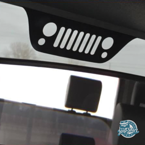 Jeep Liberty Kj Grille Windshield Decal Jeep Wrangler Jeep