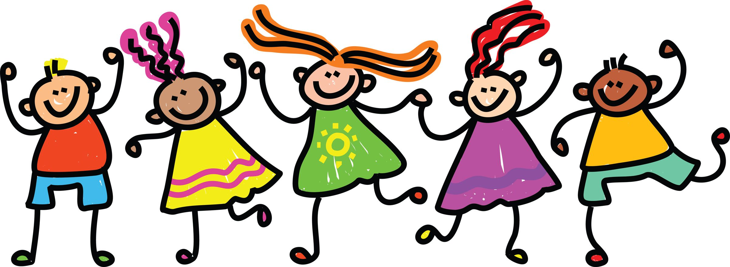 Summer kids clip art pictures