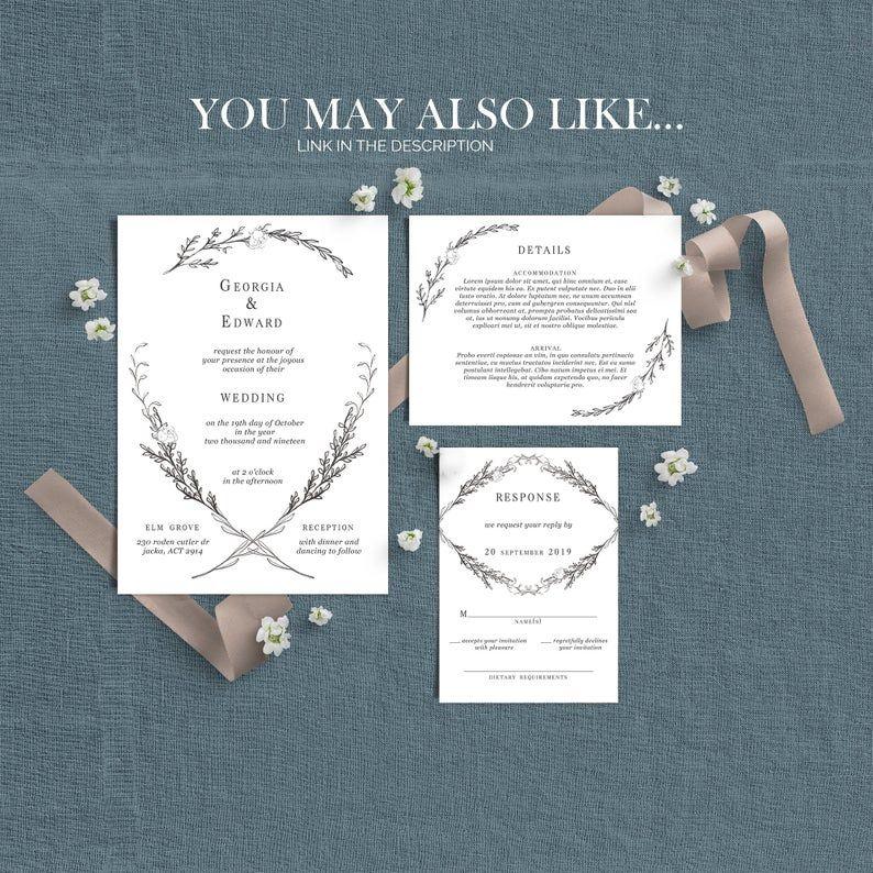 Wildflower Wedding Invitations, Wedding Invitations