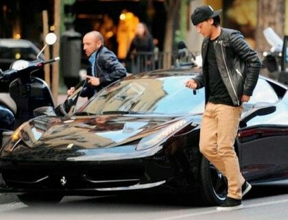 Mesut Ozil Soccer Stars Ferrari 458 Football