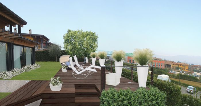 La terrazza scoscesa | PROGETTI di GIARDINI e TERRAZZI - by Verde ...