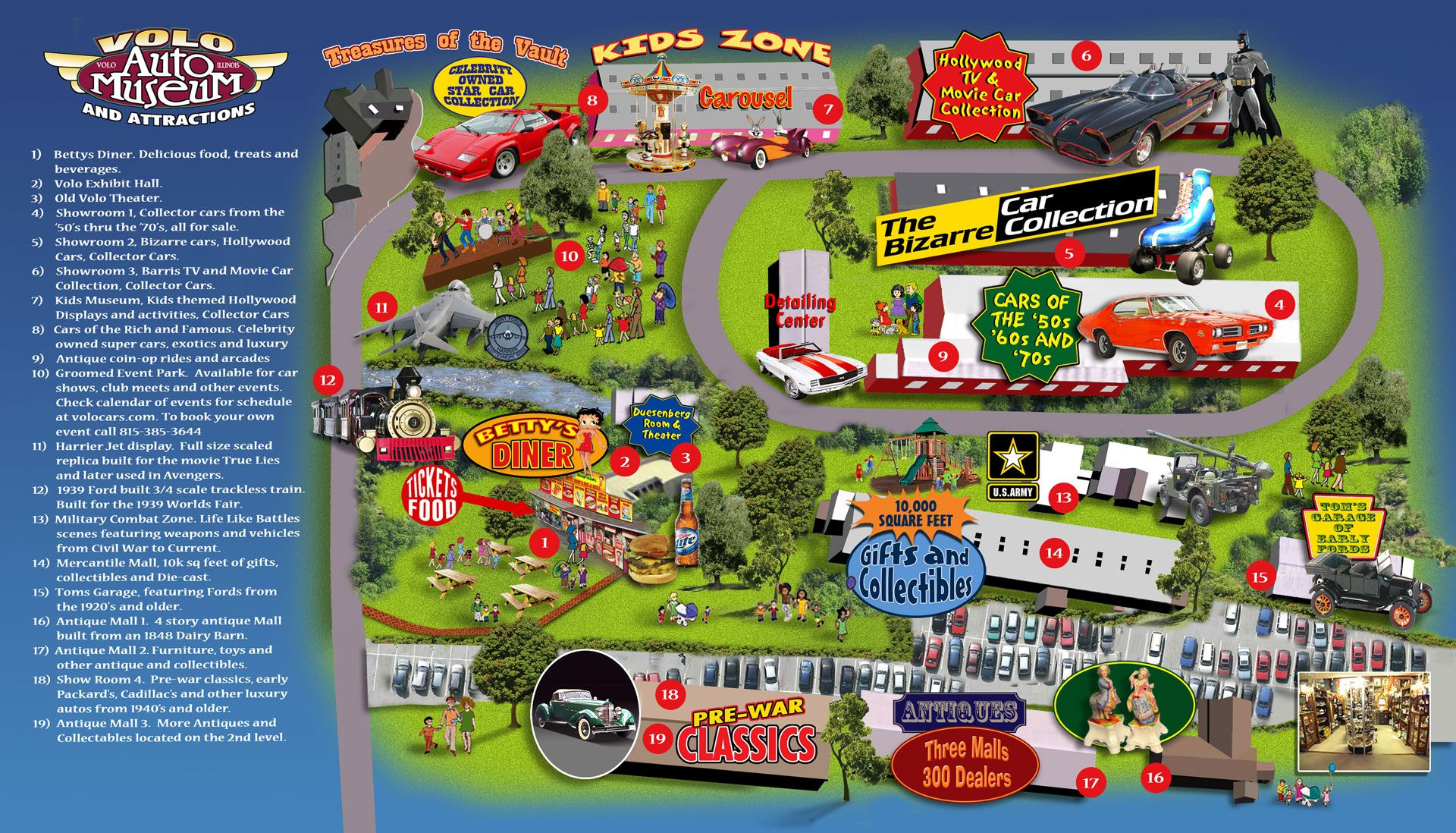 Volo Auto Museum Map | Sweet Home Chicago | Cars, Collector