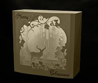 My Svg Hut Pop Up Card Templates Card Box Christmas Shadow Boxes