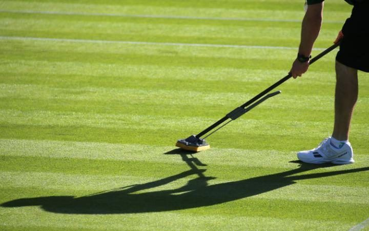 Court preparations at The Wimbledon Tennis Championships