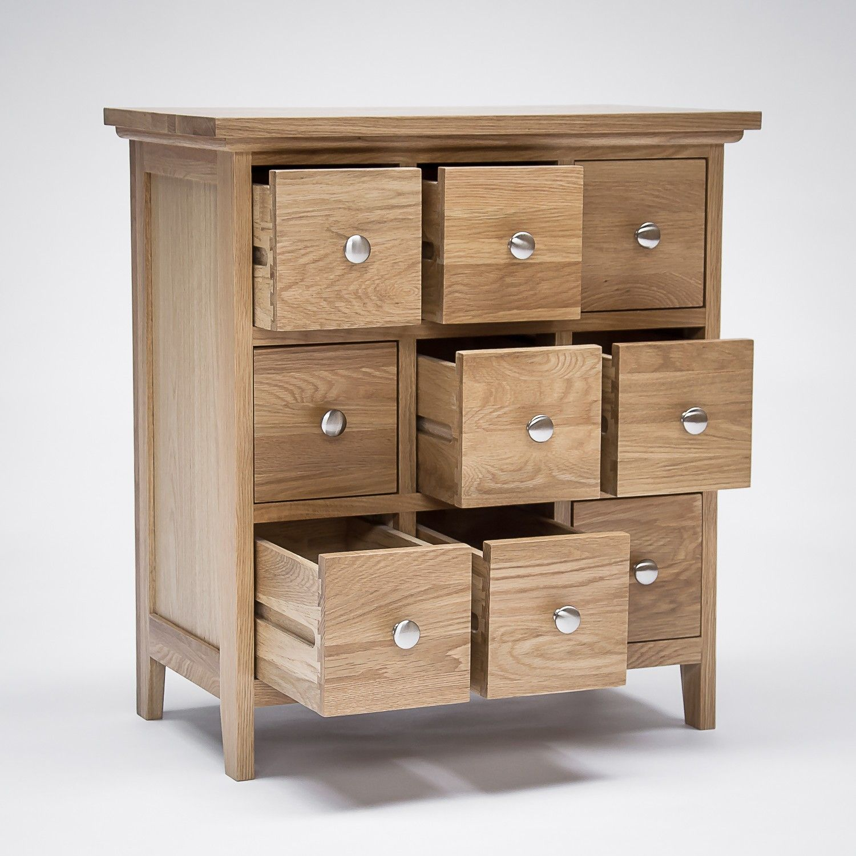 Sherwood Oak Dvd Cd Storage Cabinet 9 Drawers New Embodying Clic Style
