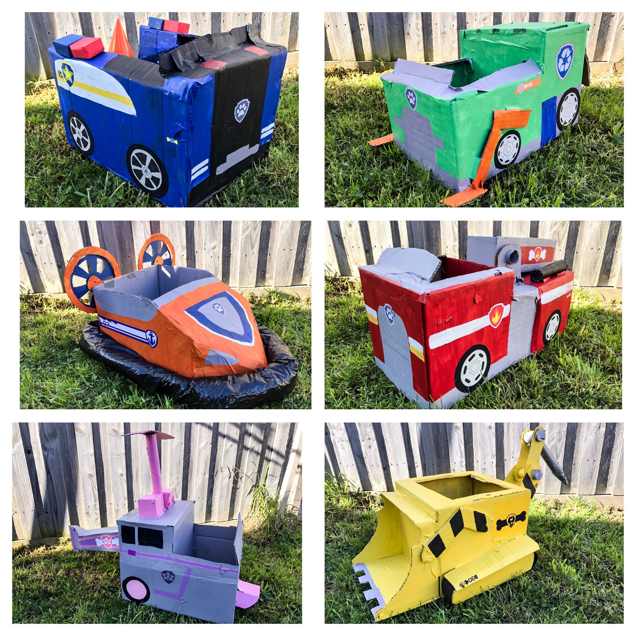 Paw Patrol Party Cardboard Vehicles Kids Activities Party Games
