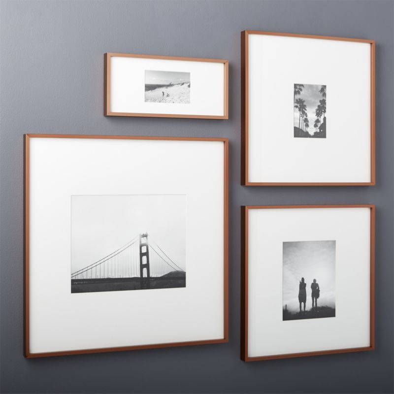 Gallery Copper 4x6 Picture Frame With White Mat 8x10 Frames Wall Modern