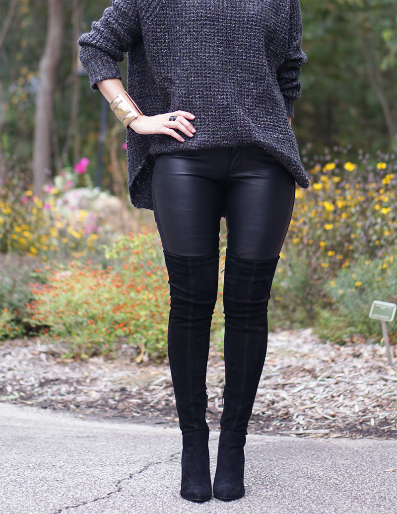 5fc36e30632 THREE (MORE) WAYS TO WEAR FAUX LEATHER LEGGINGS