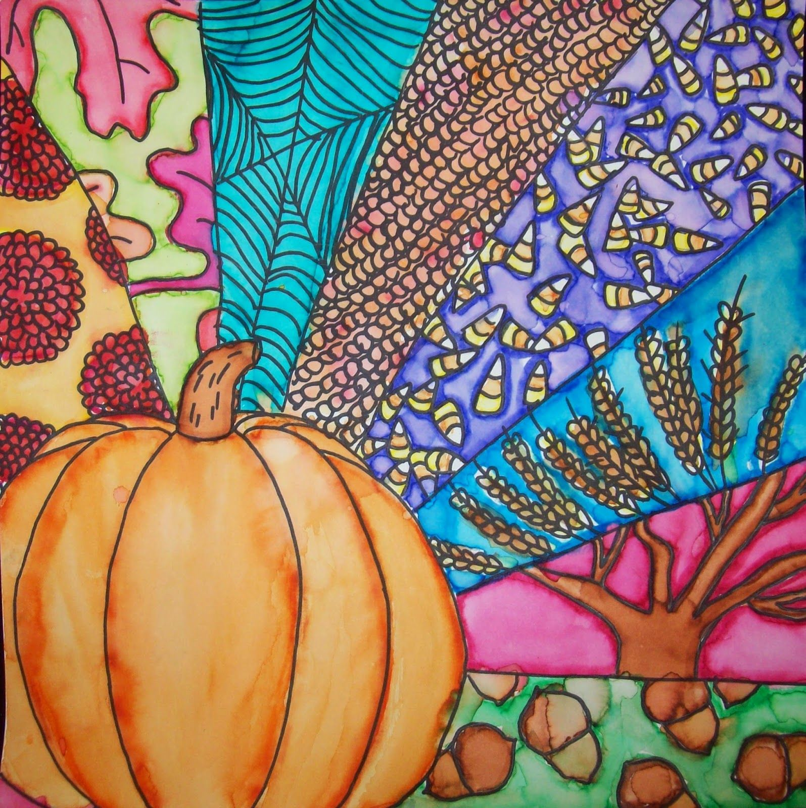 3rd Grade Art Projects Thanksgiving