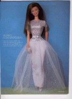 Eveningdresses for Barbie - all with free pattern