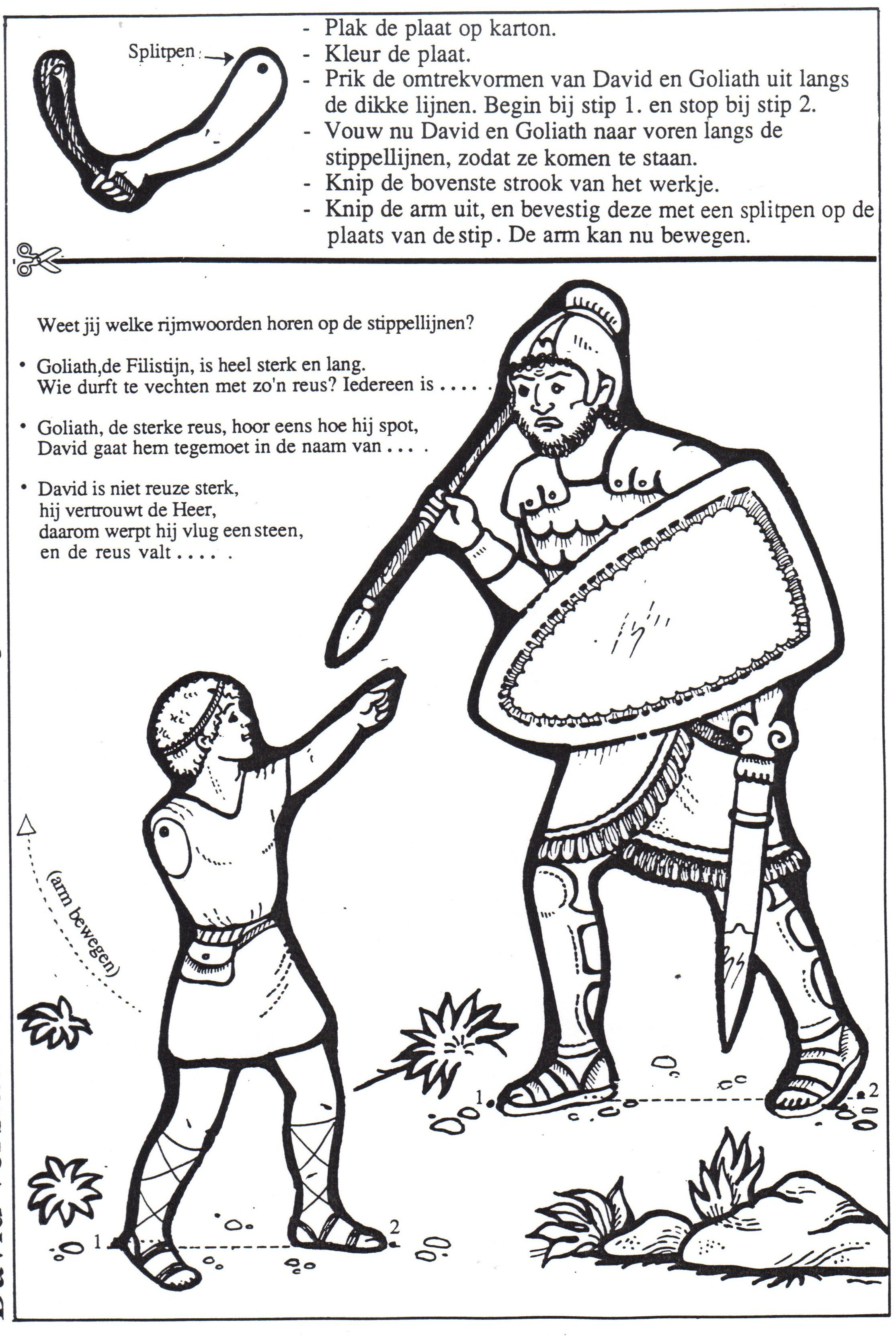 David And Goliath Craft Bibbia David Y Goliat Escuela Dominical