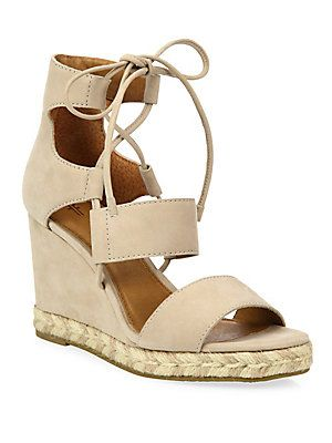 b06680e429 Frye Roberta Ghillie Nubuck Leather Wedge Sandals | Hello Loverrr ...