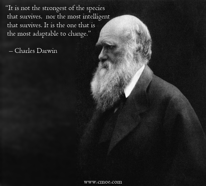 Darwin Quotes: It Is Not The Strongest Of The Species That Survives, Nor