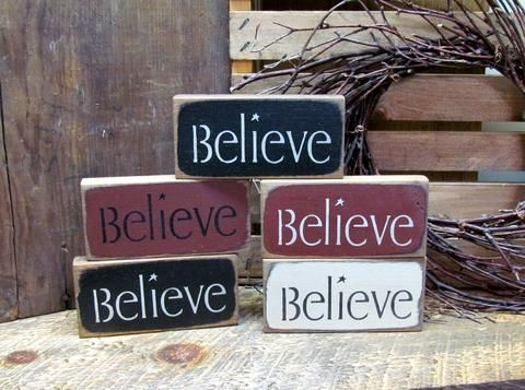 Believe Signs Decor Little Believe Signs Wooden Signs  Wood Signs Holidays And Craft