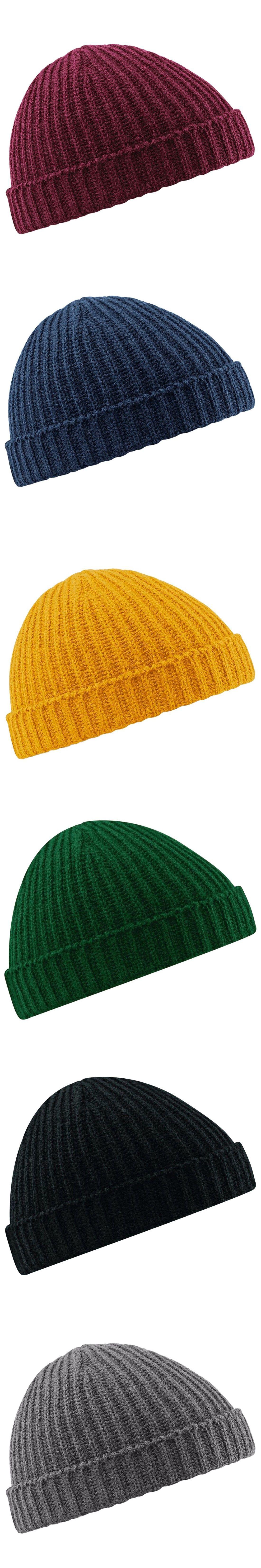 8c6d6272379 Fisherman Beanie Ribbed Hat Winter Warm Turn Up Retro Mens Womens Ladies  Hat Turn Up