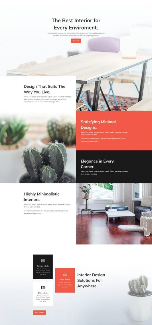 Interior Design Company Landing Page Interior design