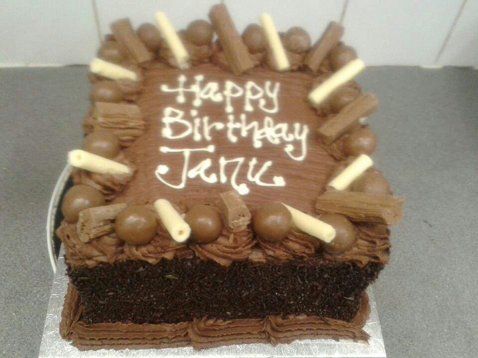 Happy Birthday Janu Birthday Chocolate Cakes Pinterest