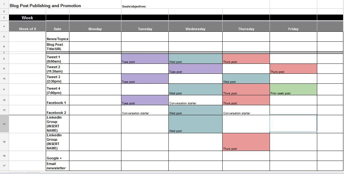 The Best Content And Social Media Calendar Templates  Social Media