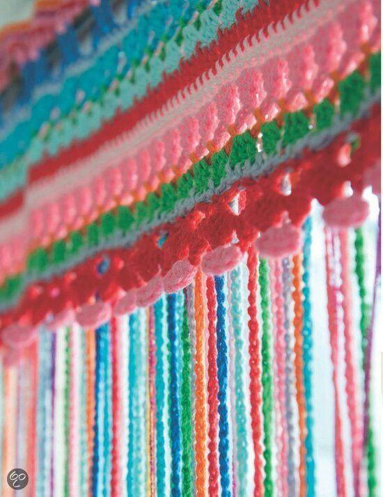 Vliegengordijn Plastic Slierten.Vliegengordijn Haken Met Katoen Garen Diy2 Crochet Curtains
