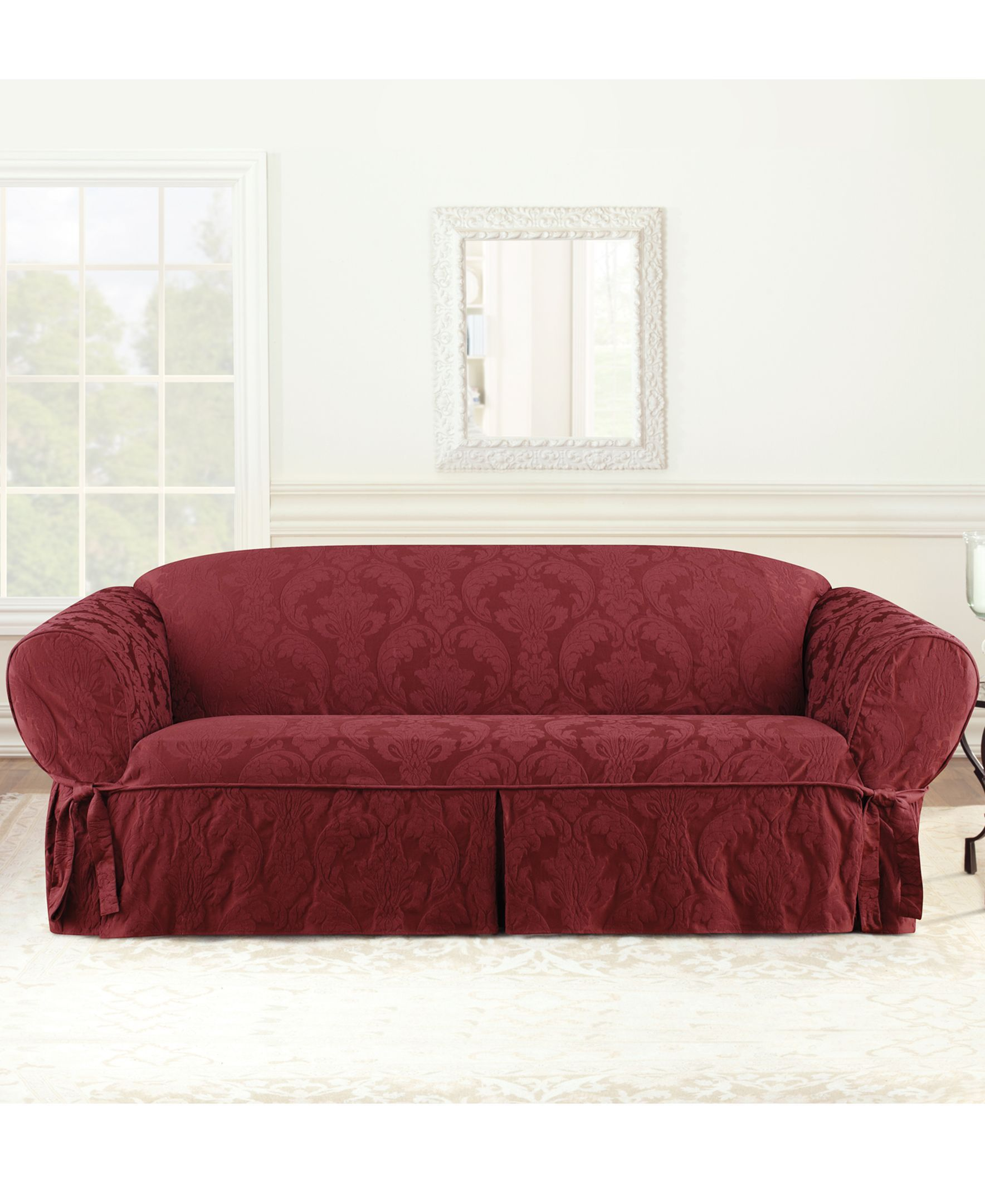 Matelasse Damask 1 Piece Sofa Slipcover Slipcovers Sofa Furniture
