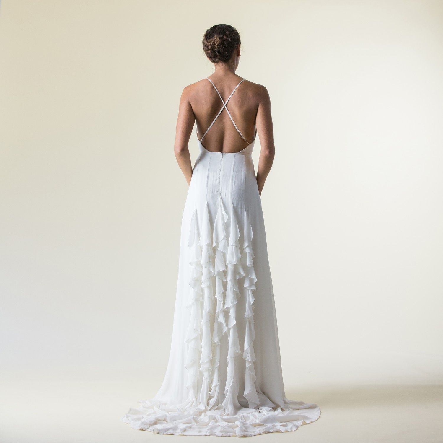 An exquisitely ethical wedding dress with dramatic train. The Isabel ...