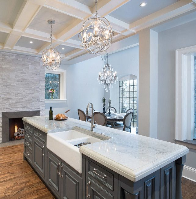 Love This Countertop Quartzite Sea Pearl White And Gray Kitchens Pinterest Countertop