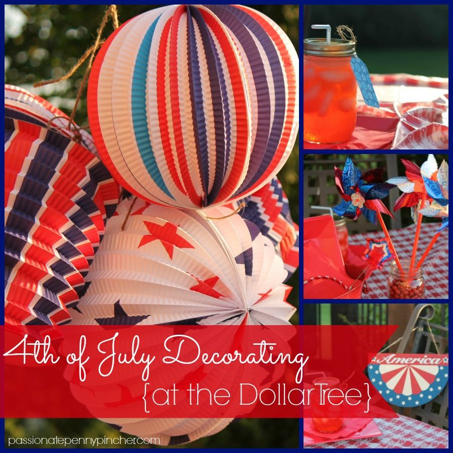 4th of july decorating on a budget at the dollar tree. Black Bedroom Furniture Sets. Home Design Ideas