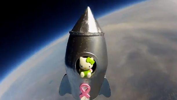 12yo Launches 'Hello Kitty' 25 Miles Into Stratosphere